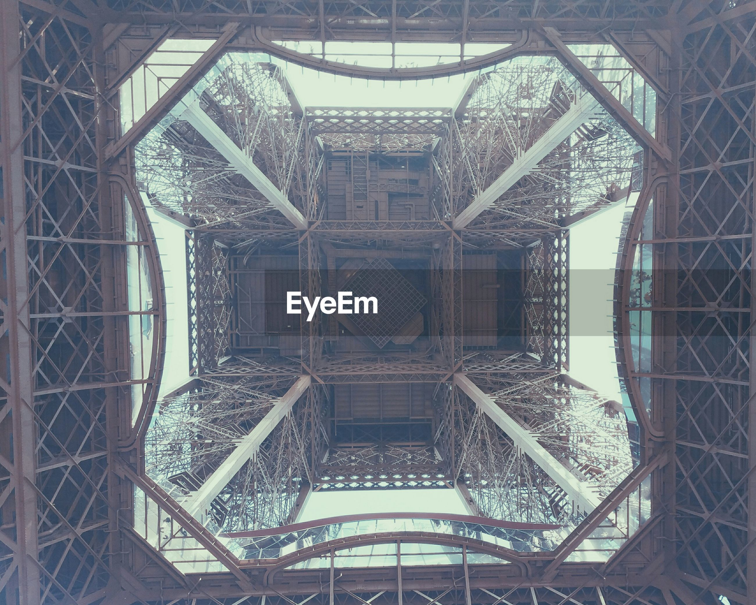 Architectural detail of eiffel tower