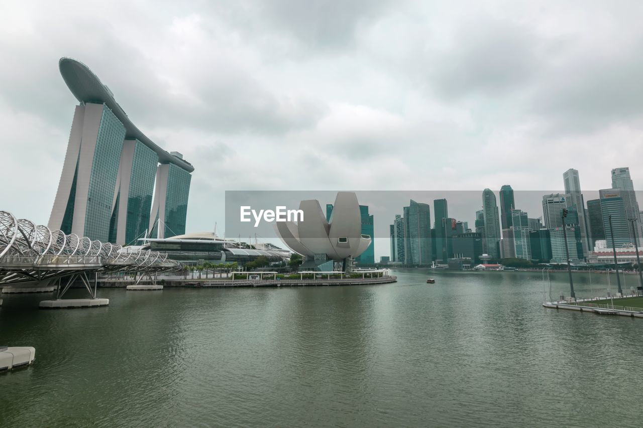 sky, architecture, building exterior, built structure, water, city, cloud - sky, waterfront, transportation, travel destinations, nature, nautical vessel, day, skyscraper, travel, no people, building, office building exterior, cityscape, outdoors, bay, yacht