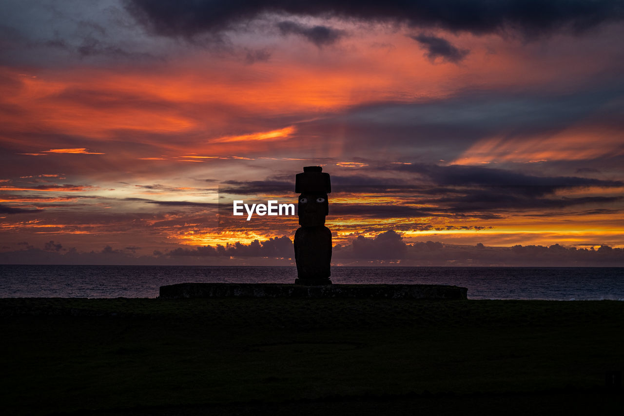 sky, sunset, cloud - sky, water, beauty in nature, scenics - nature, sea, silhouette, orange color, beach, tranquil scene, tranquility, land, horizon over water, nature, horizon, idyllic, non-urban scene, outdoors