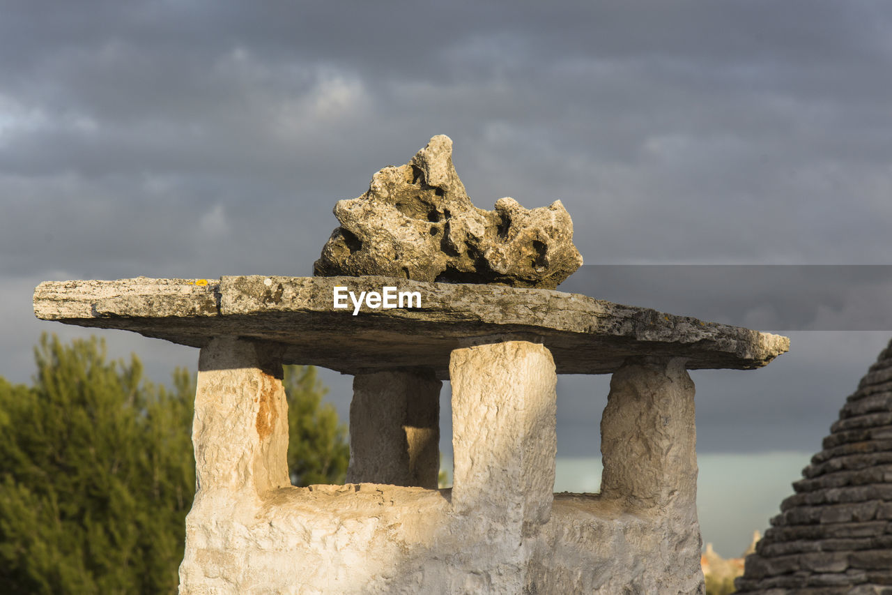 day, cloud - sky, no people, outdoors, weathered, focus on foreground, sky, built structure, old ruin, architecture, close-up, nature