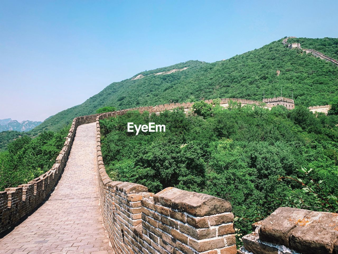 mountain, architecture, plant, sky, tree, built structure, nature, clear sky, history, scenics - nature, the past, tranquil scene, beauty in nature, no people, ancient, green color, travel destinations, day, tranquility, mountain range, ancient civilization, outdoors
