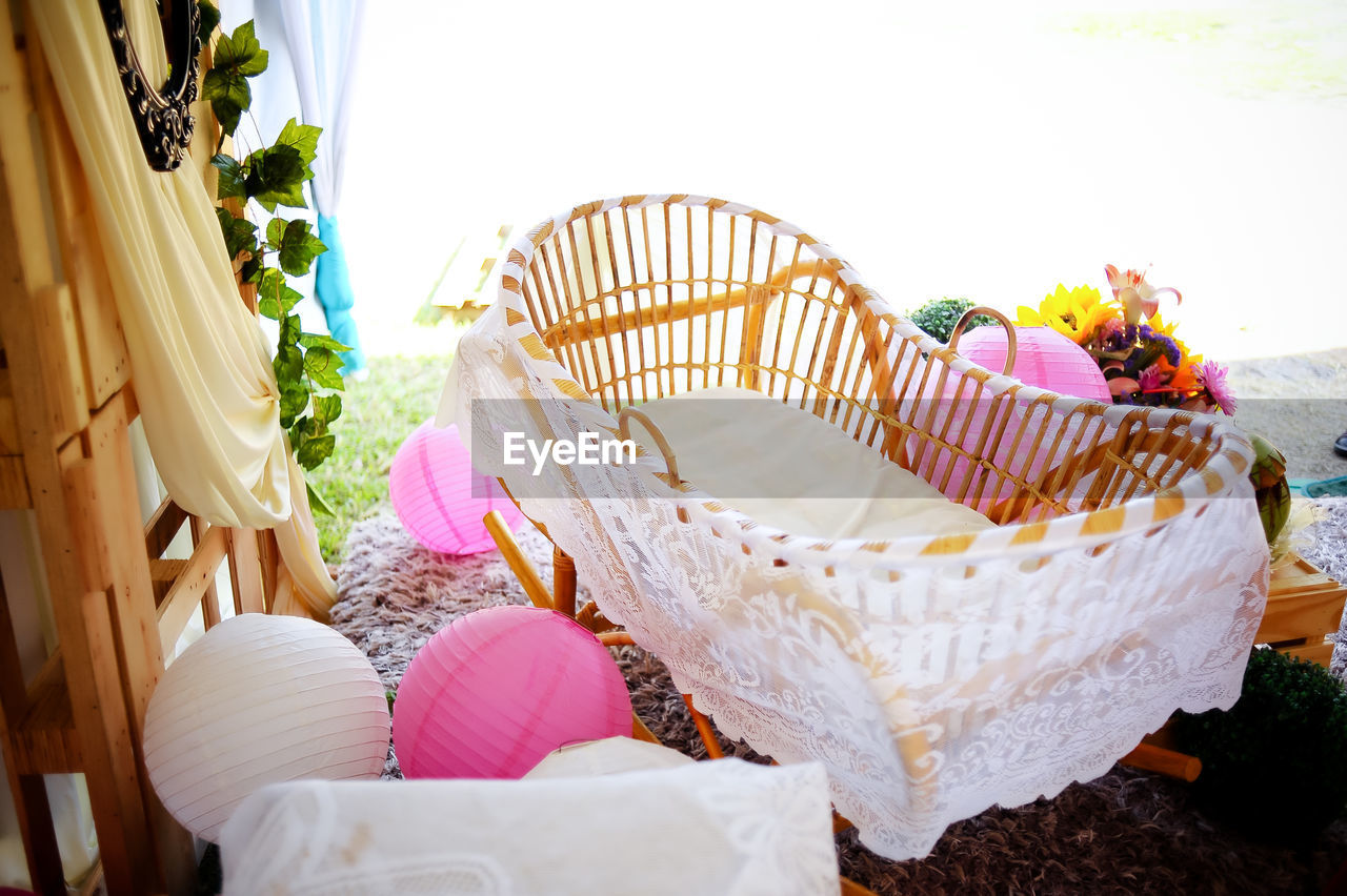 flower, no people, basket, beauty in nature, nature, outdoors, day, freshness, close-up