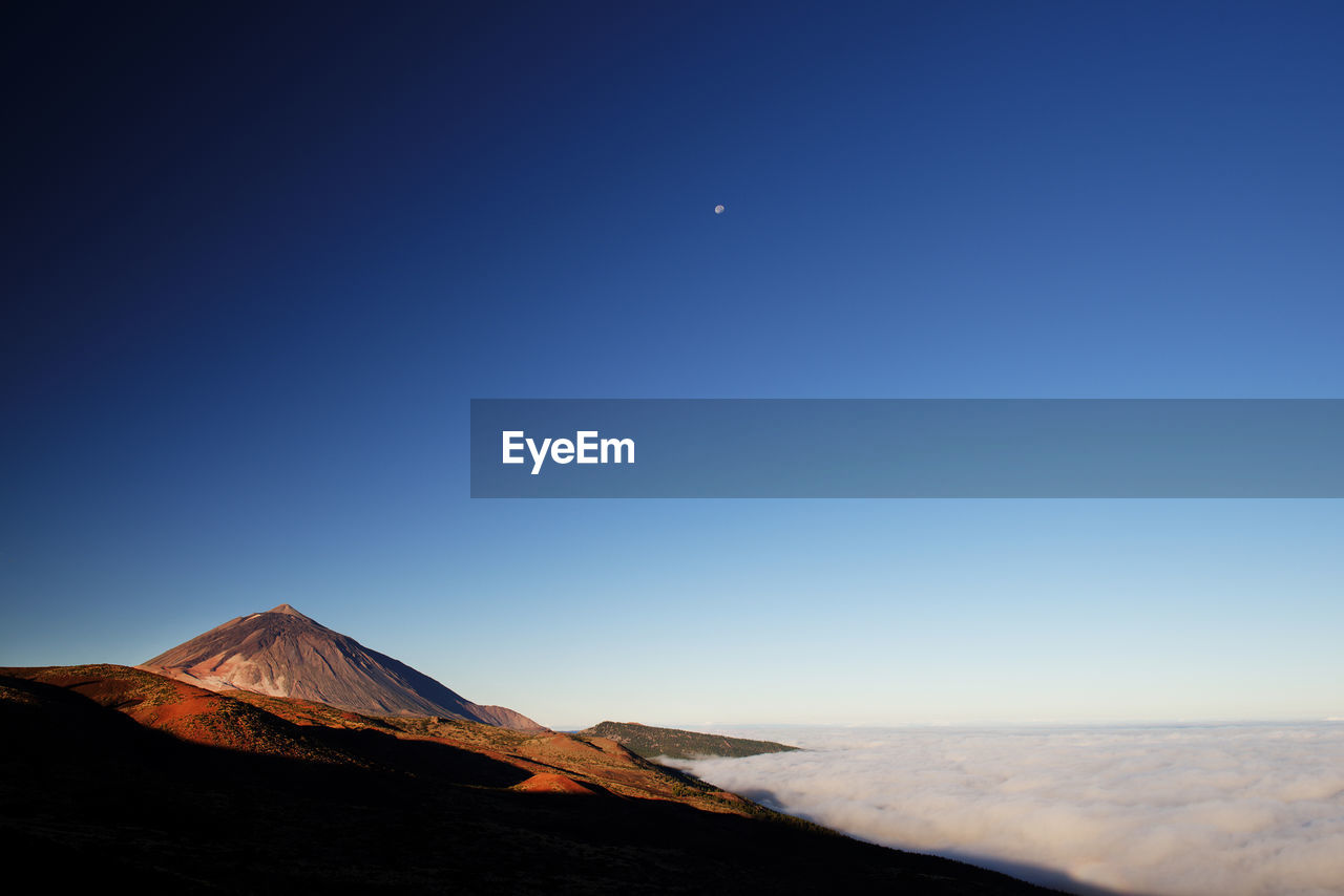 Scenic View Of El Teide Volcano Against Clear Sky