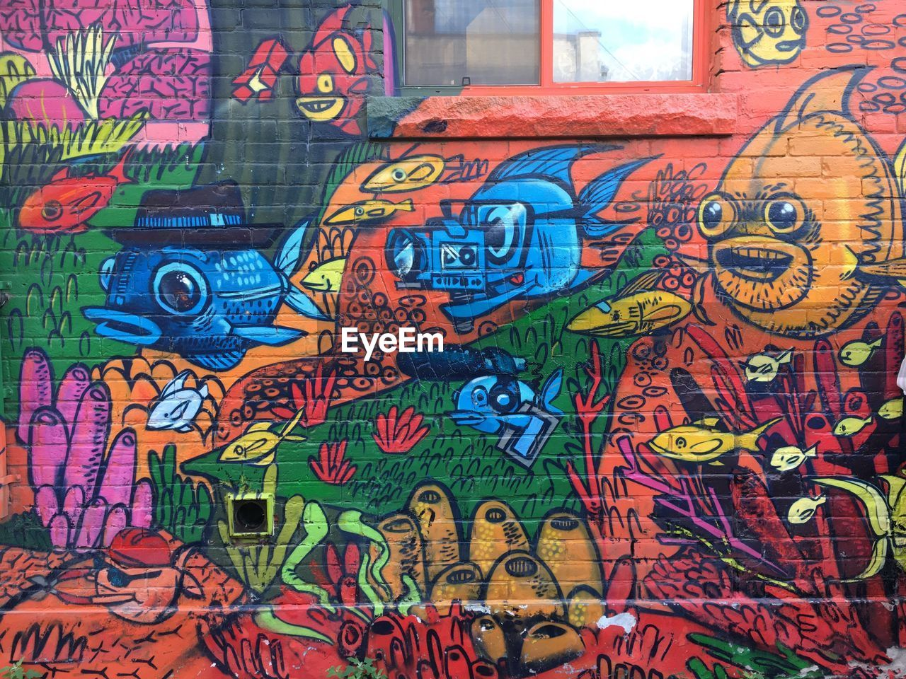 multi colored, graffiti, art and craft, creativity, no people, full frame, backgrounds, representation, architecture, wall - building feature, built structure, text, communication, day, pattern, street art, human representation, wall, close-up, outdoors, mural