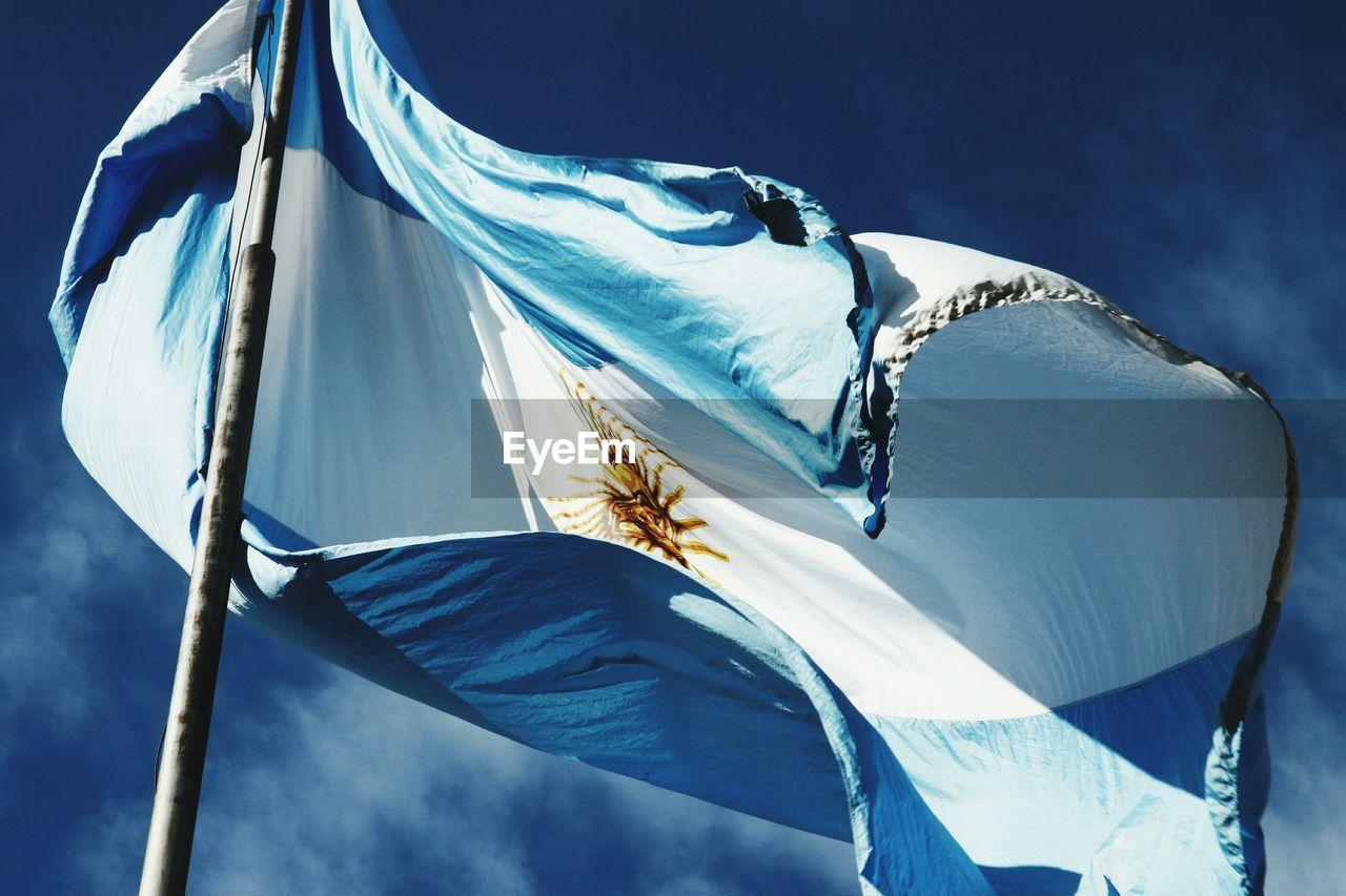 Flag Of Argentina Against Sky