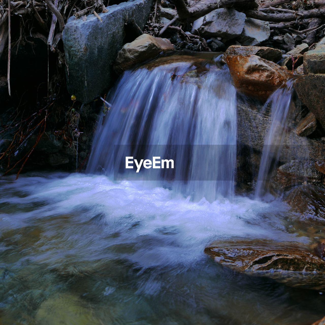 Water falling in river