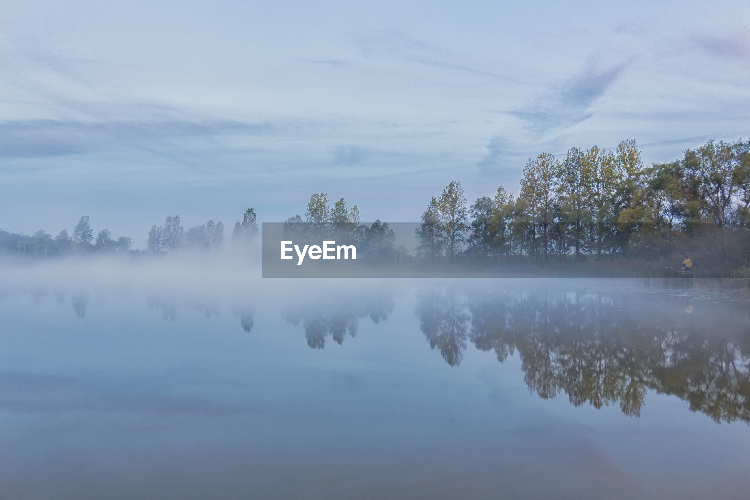 Krzysztof Tollas Autumn Beauty In Nature Fog Foggy Lake Nature Nikon D3100 Nowa Wieś Ujska, Reflection Sky Sunrise Tranquil Scene Tree Village Water
