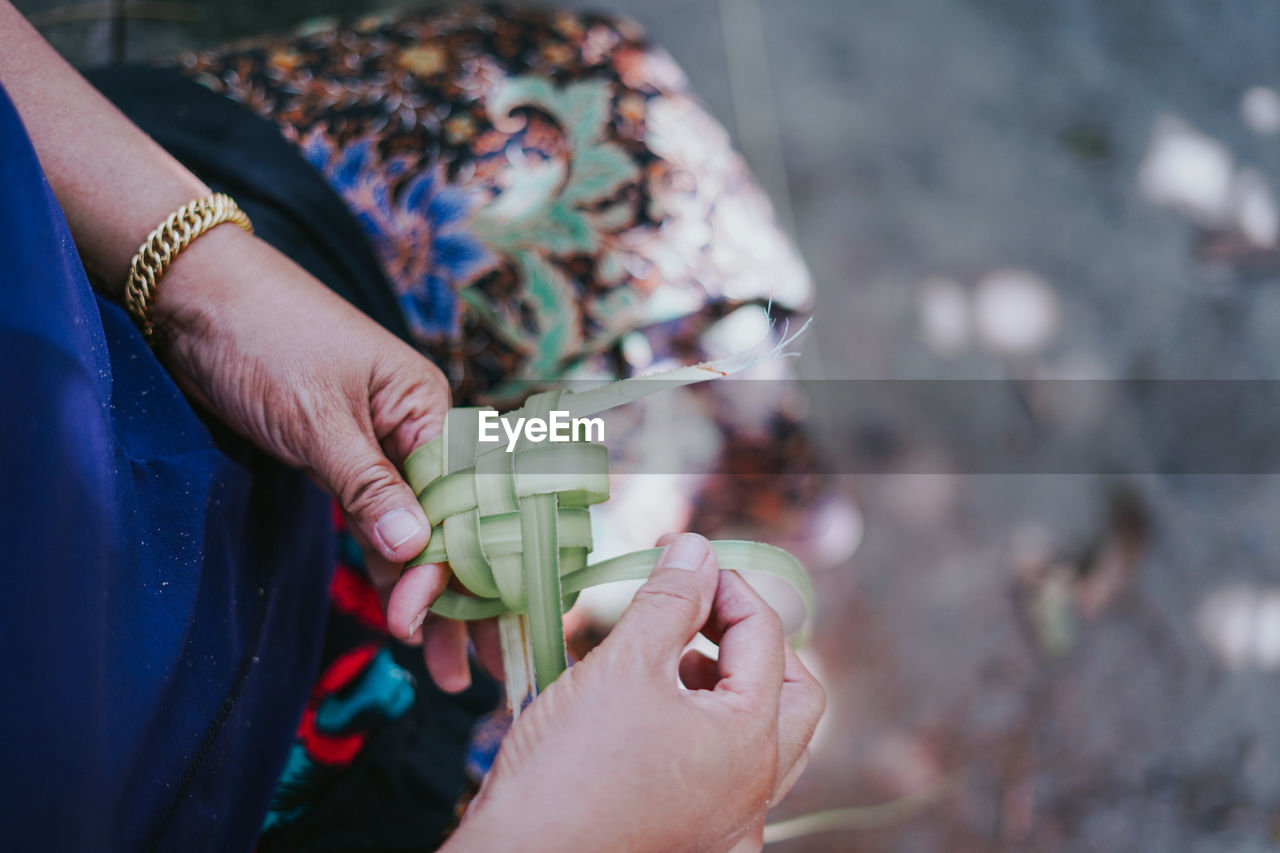 human hand, hand, real people, human body part, holding, one person, lifestyles, women, focus on foreground, high angle view, leisure activity, adult, body part, day, outdoors, close-up, selective focus, finger, nature