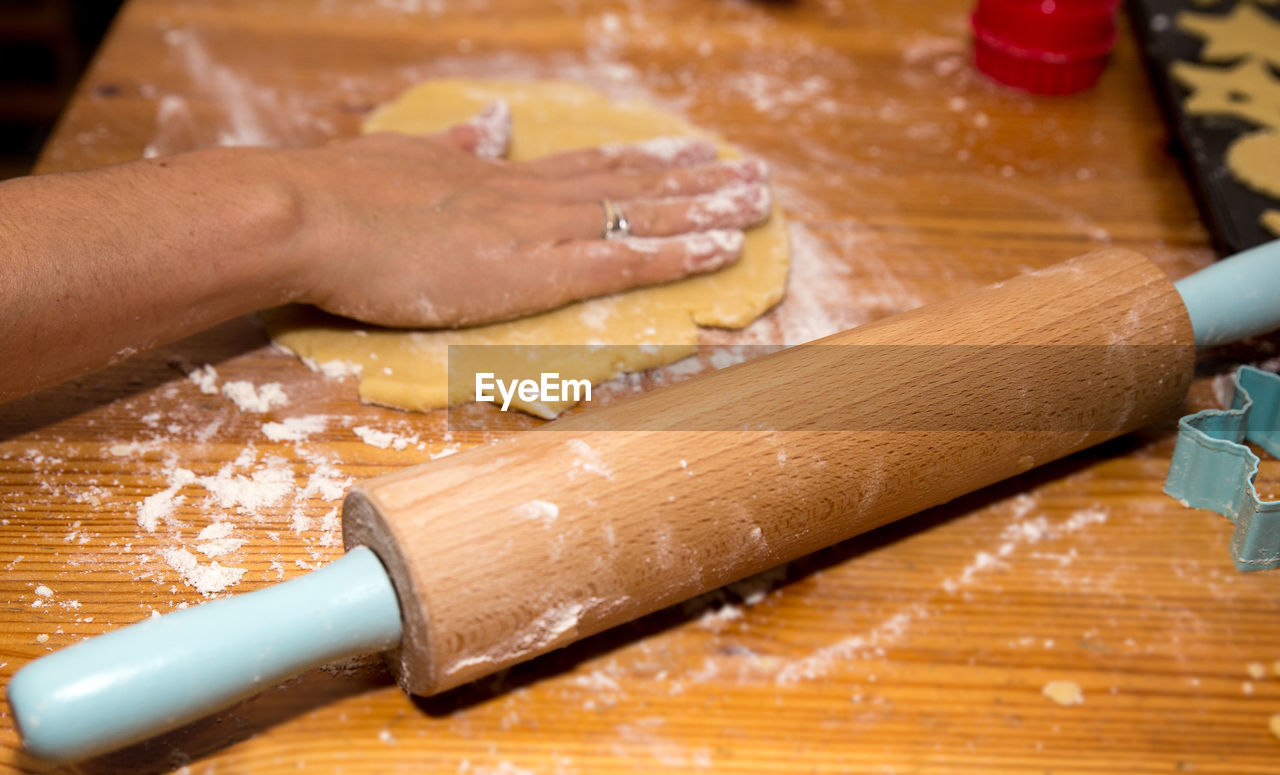 Cropped Image Of Person Making Cookies
