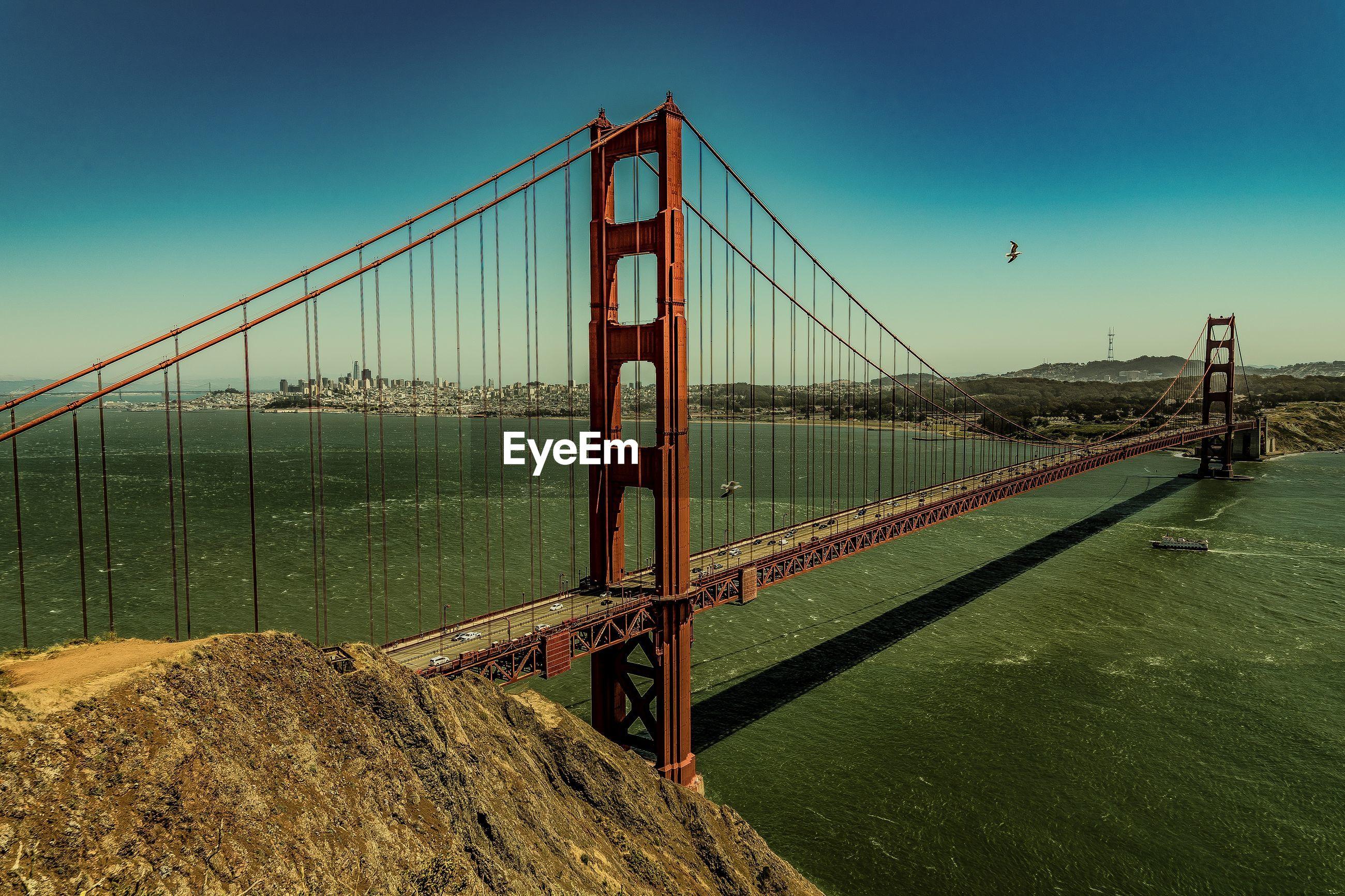 VIEW OF SUSPENSION BRIDGE