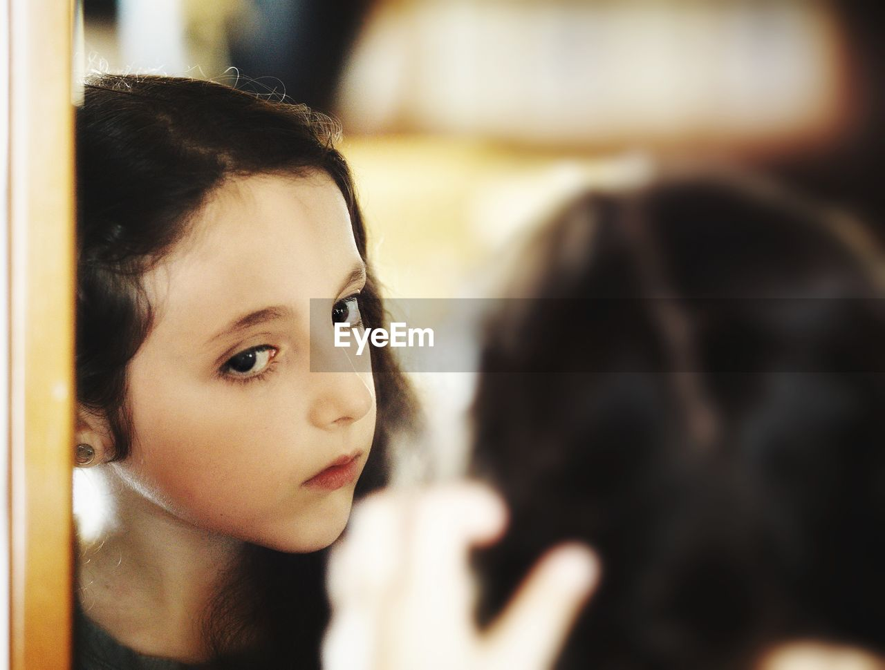 headshot, portrait, child, one person, childhood, real people, girls, females, focus on foreground, women, looking, indoors, close-up, looking away, lifestyles, innocence, young adult, contemplation, teenager, hairstyle