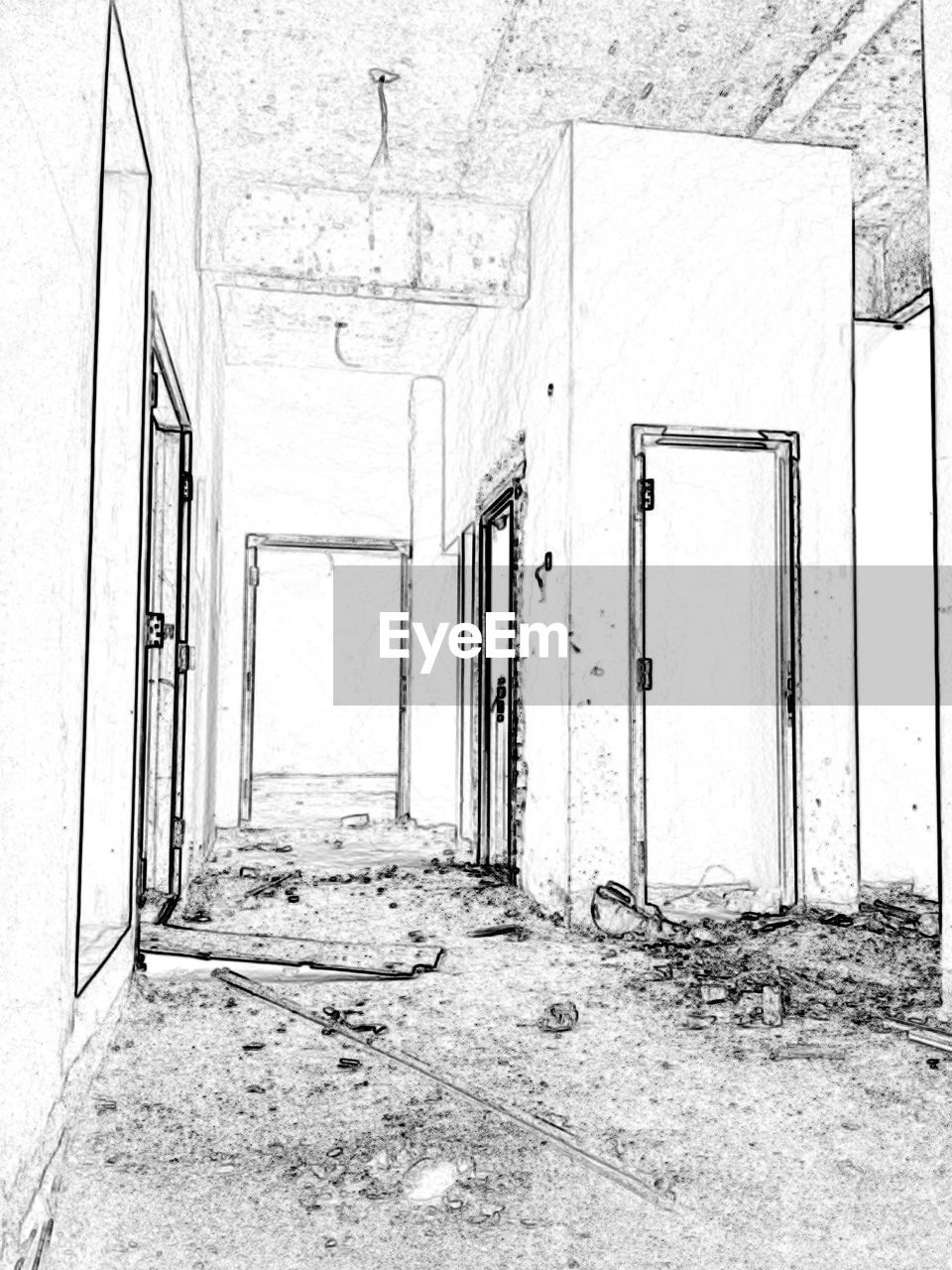 entrance, architecture, door, built structure, building, abandoned, no people, wall - building feature, old, damaged, indoors, day, flooring, run-down, open, weathered, empty, house, deterioration, dirty, ruined