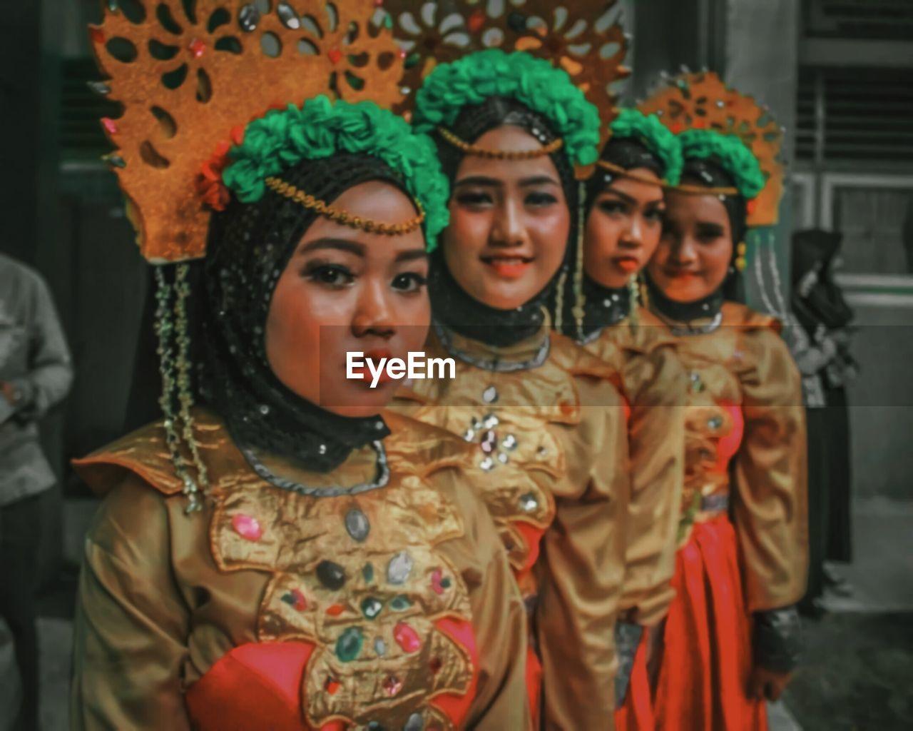 Traditional woman's makeup