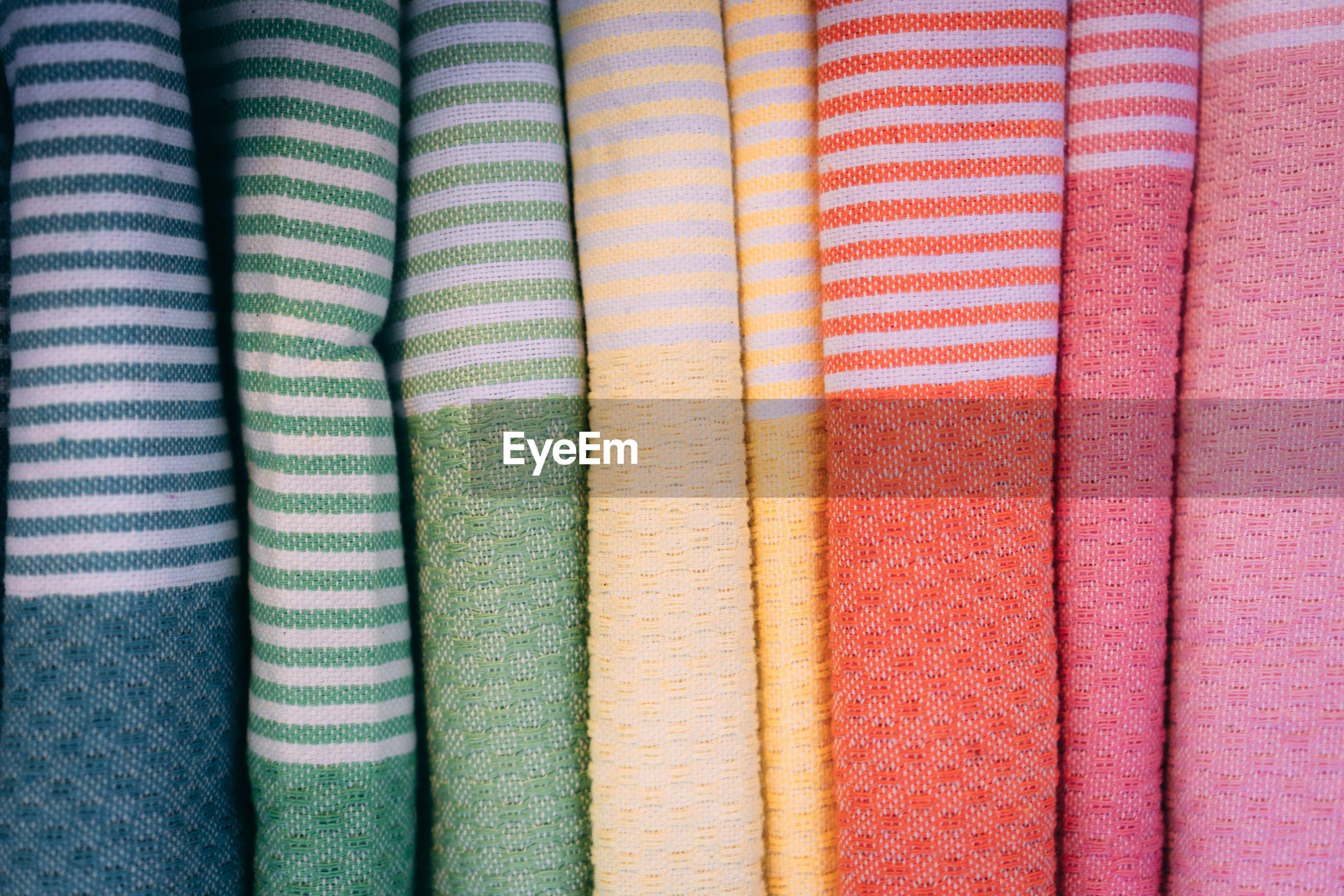 Full frame shot of multi colored textile
