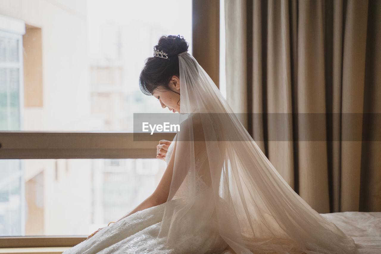 Girl woman wedding dress