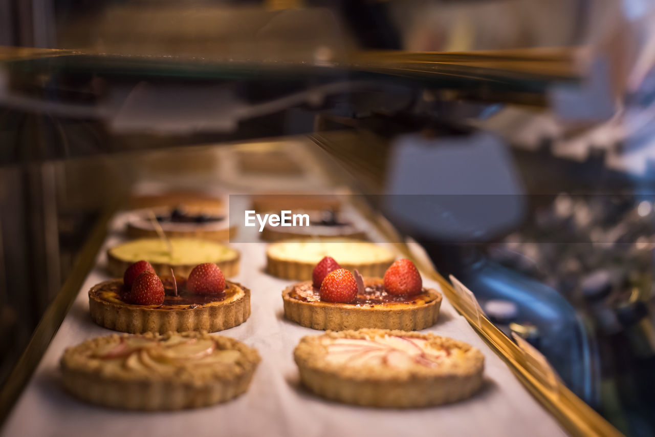 Close-Up Of Tart Served On Table