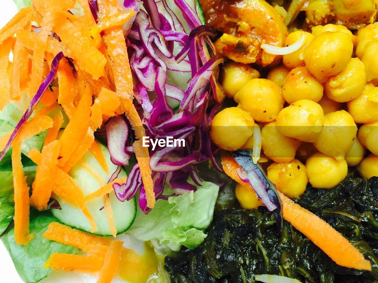 Detail shot of salad