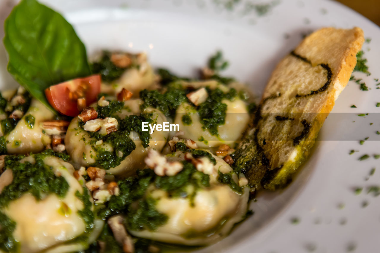 food, food and drink, ready-to-eat, freshness, selective focus, serving size, plate, close-up, indoors, wellbeing, healthy eating, vegetable, still life, italian food, no people, indulgence, pasta, high angle view, meal, garnish, vegetarian food, herb, temptation, chopped, snack