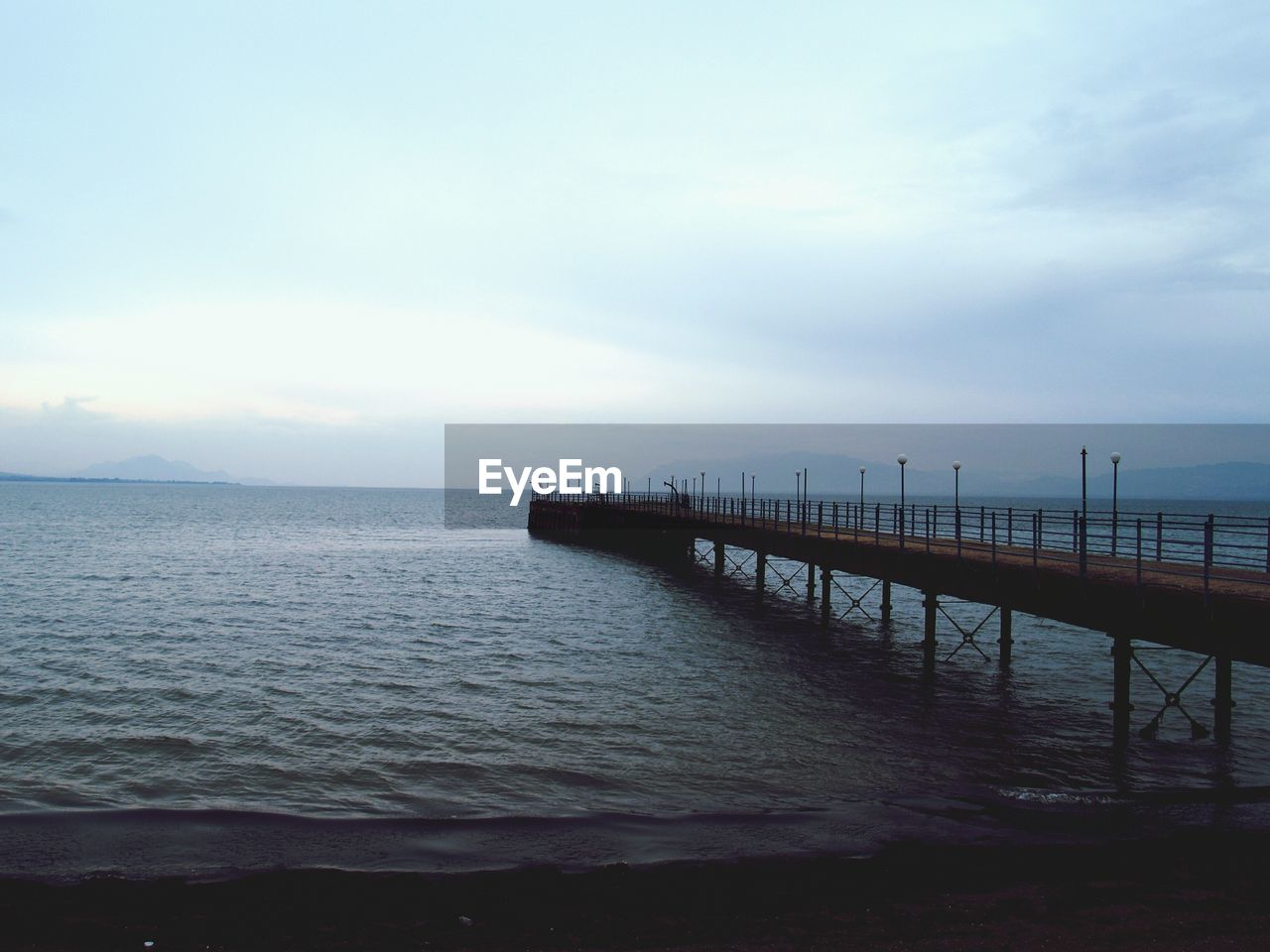 View Of Jetty In Sea