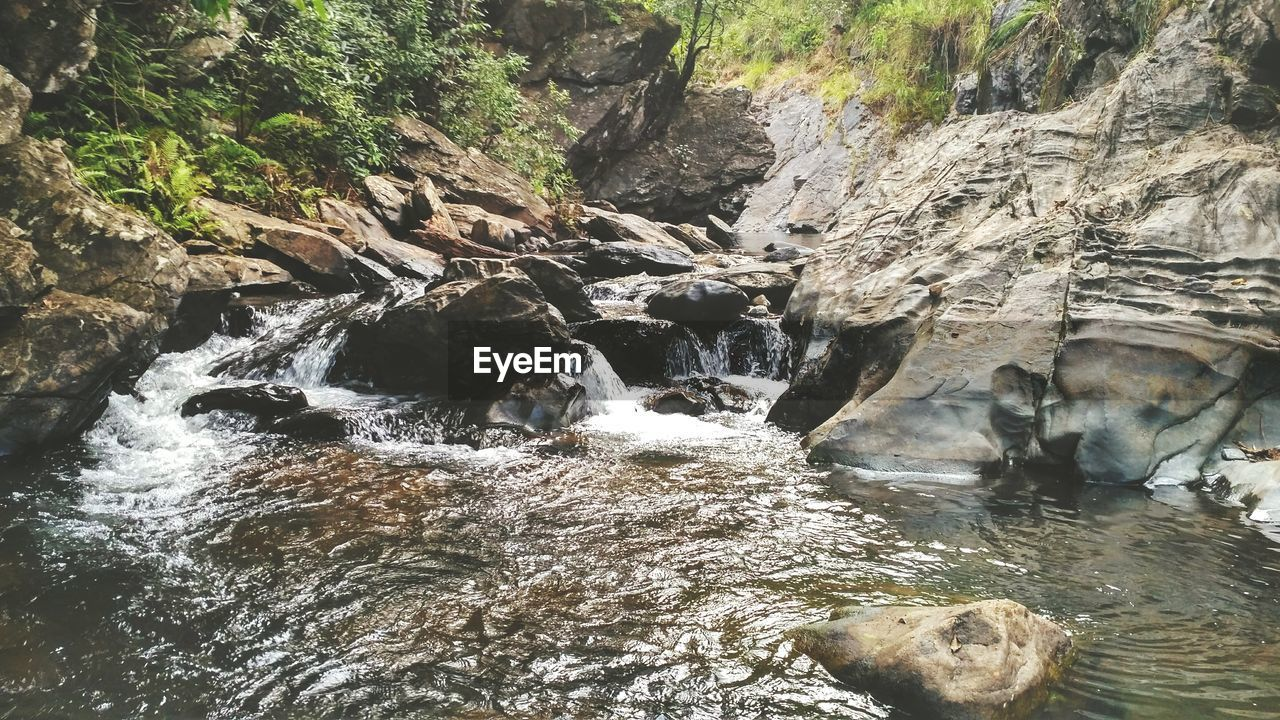 waterfall, nature, river, no people, beauty in nature, water, tranquil scene, scenics, tranquility, day, outdoors, motion, forest, tree