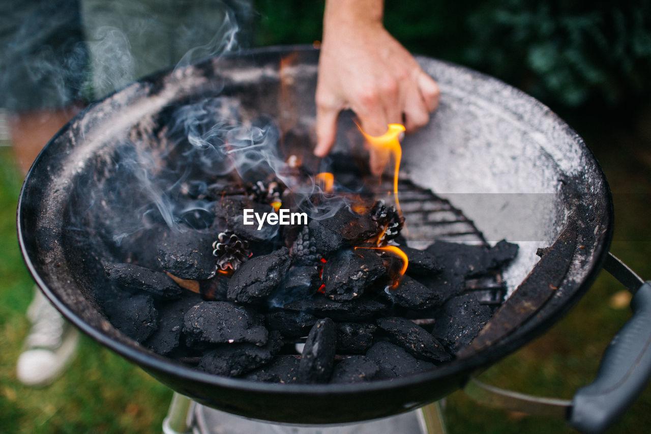 Detail Shot Of Burning Coal