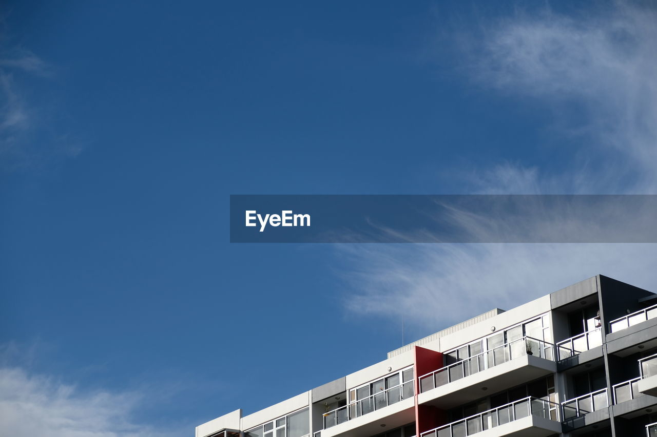 built structure, building exterior, architecture, low angle view, day, sky, no people, outdoors, cloud - sky, blue