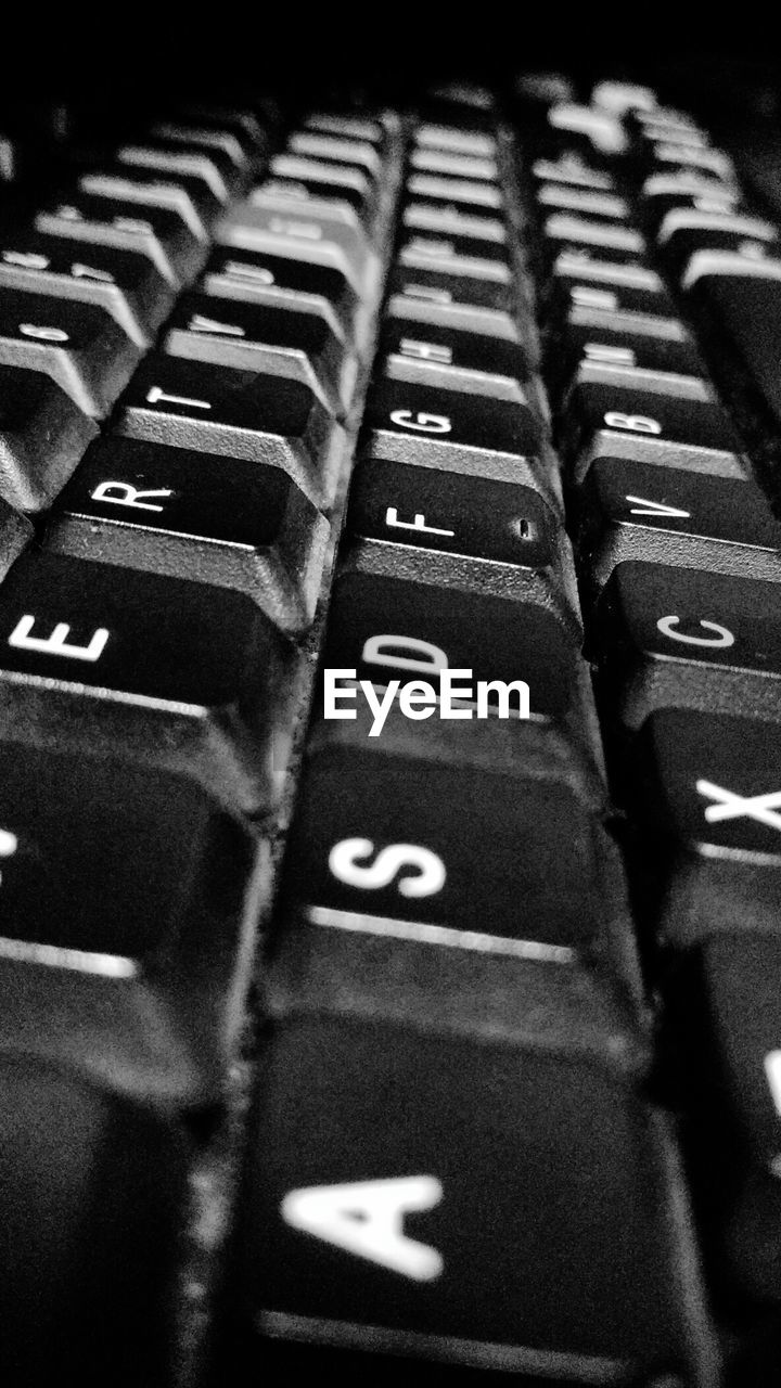 number, text, alphabet, no people, indoors, in a row, close-up, selective focus, communication, keyboard, backgrounds, full frame, technology, computer key, computer keyboard, day