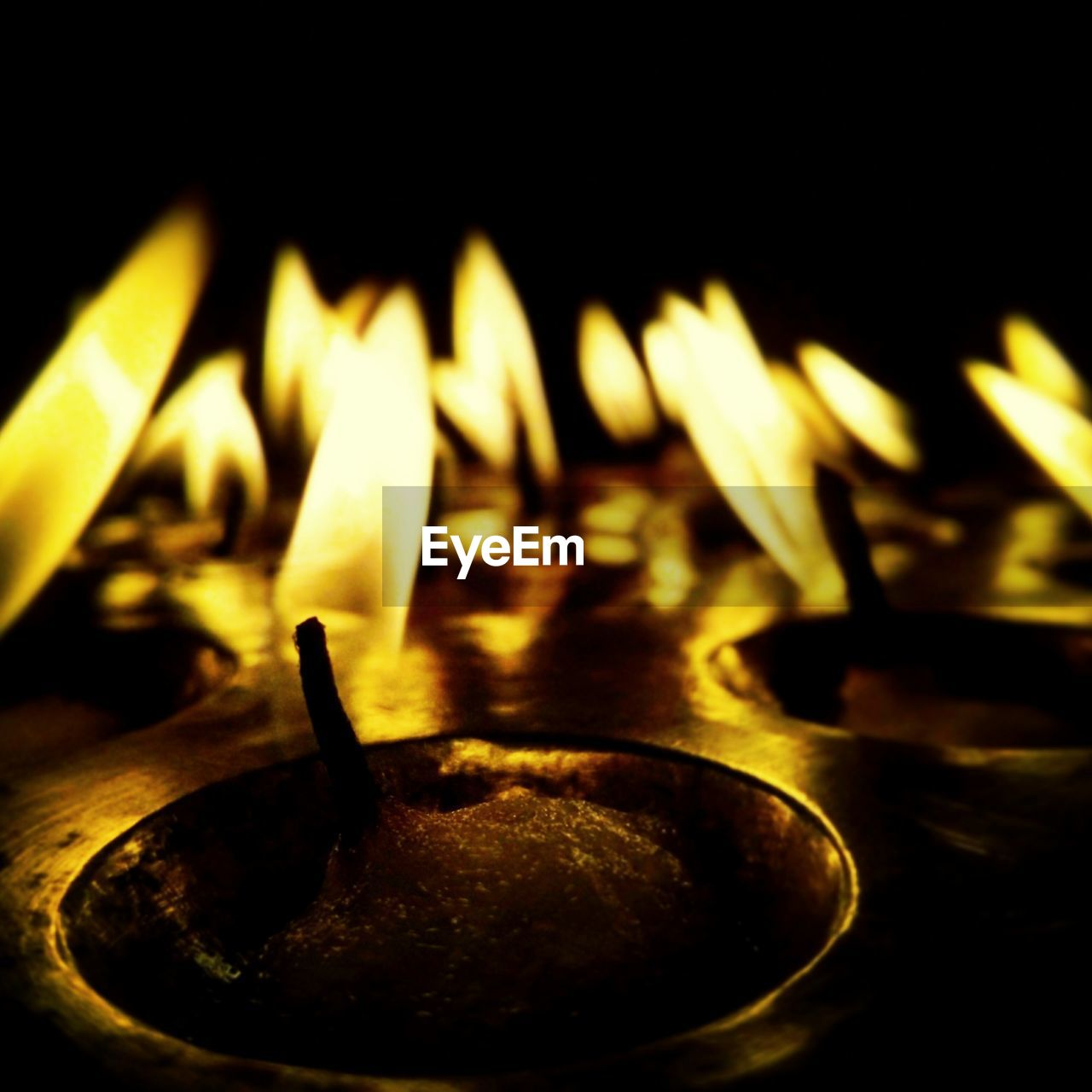 flame, heat - temperature, no people, burning, close-up, indoors, night