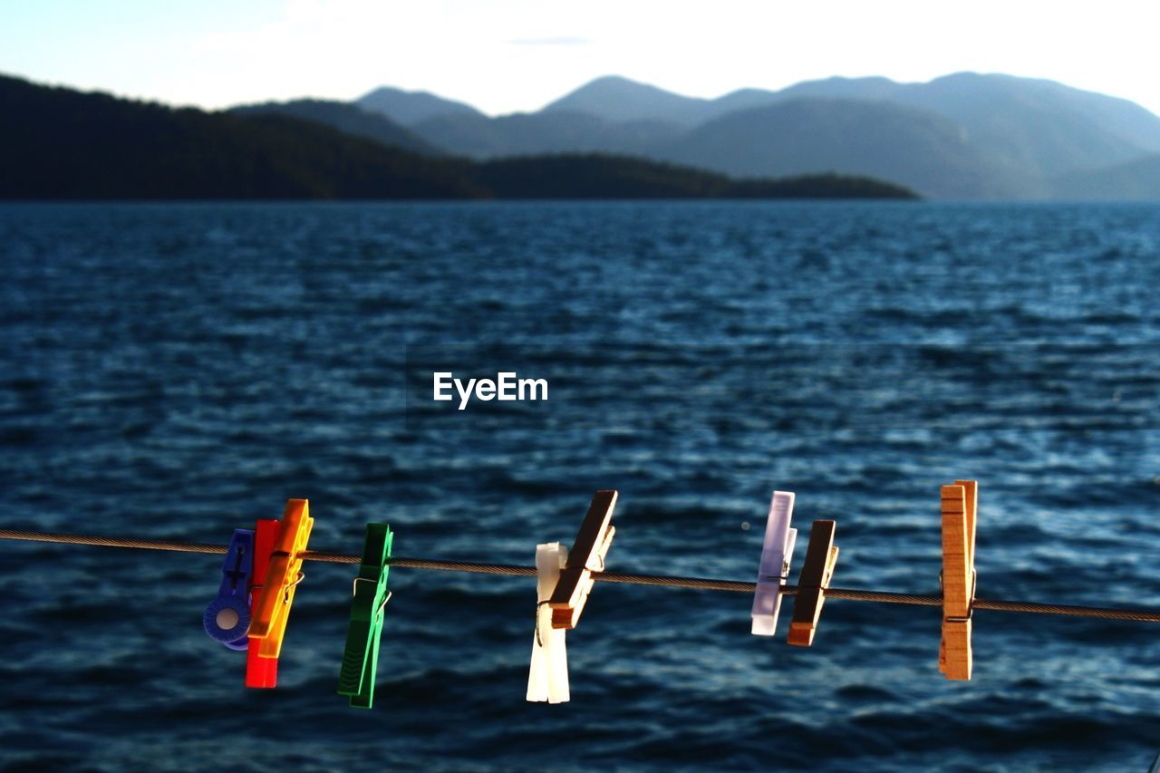View Of Objects Against Sea