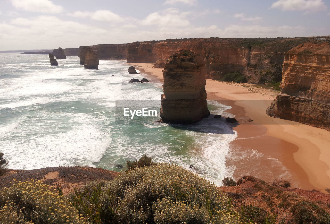 Scenic View Of The Twelve Apostles Against Sky