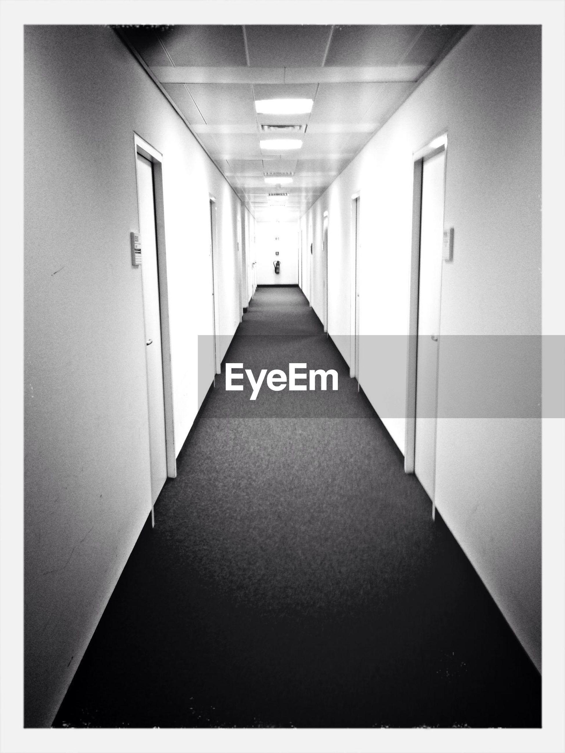 Empty passage between rooms in building