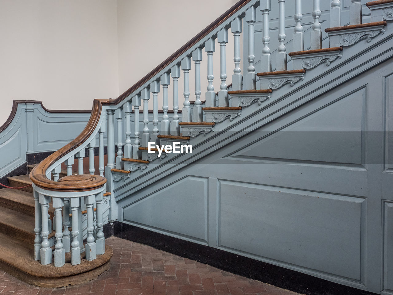 in a row, staircase, steps and staircases, steps, railing, no people, indoors, architecture, day
