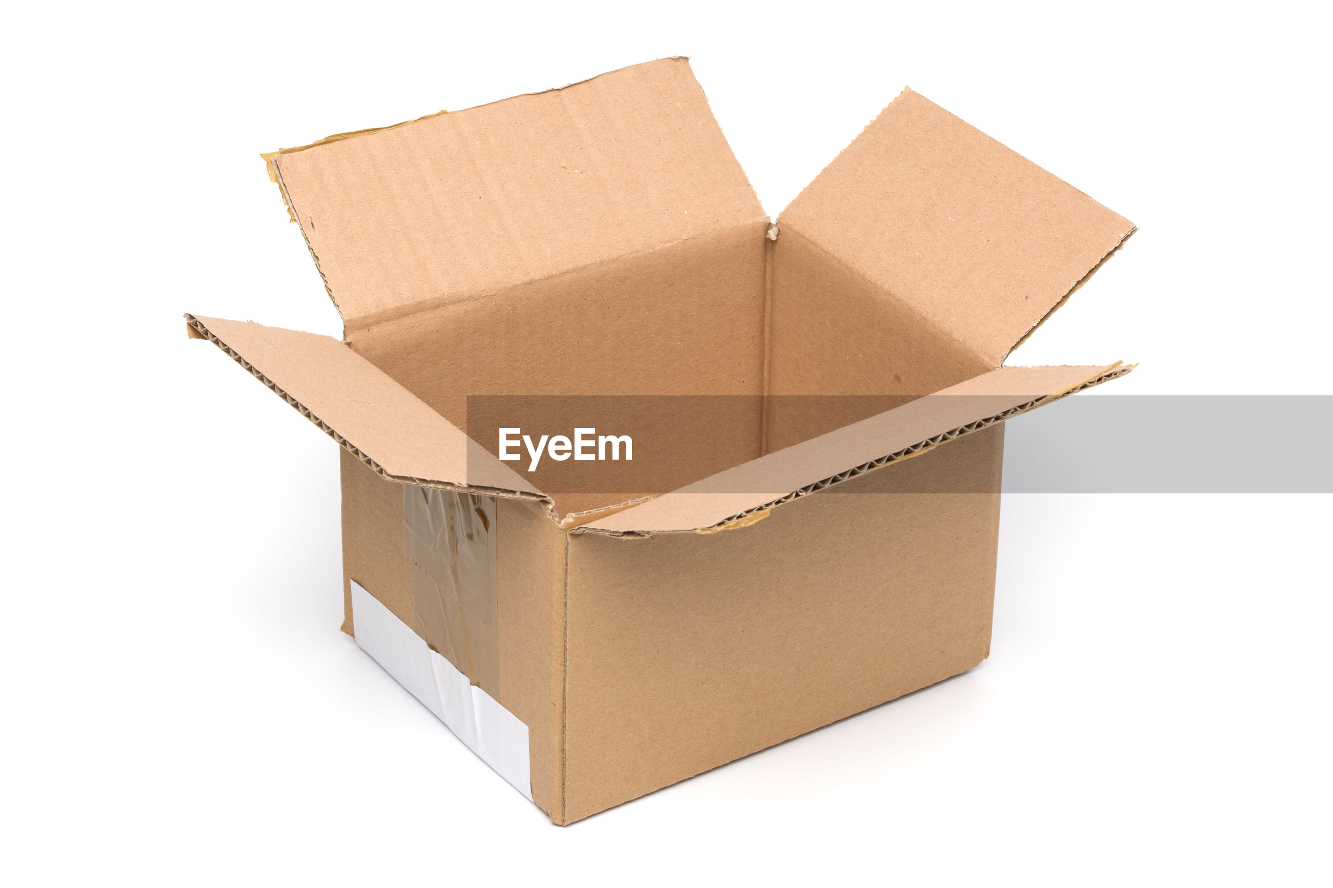 Close-Up Of Cardboard Box On White Background