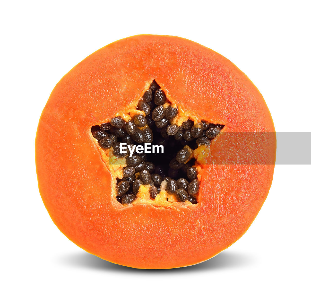 food, food and drink, studio shot, orange color, white background, fruit, freshness, healthy eating, indoors, still life, wellbeing, papaya, close-up, cut out, cross section, tropical fruit, seed, no people, single object, slice, orange, ripe