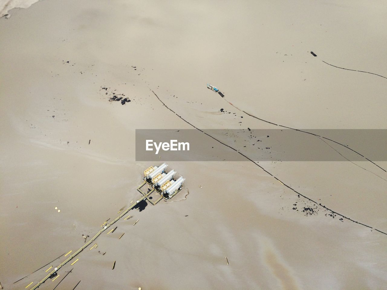 Aerial View Of Oil Sands