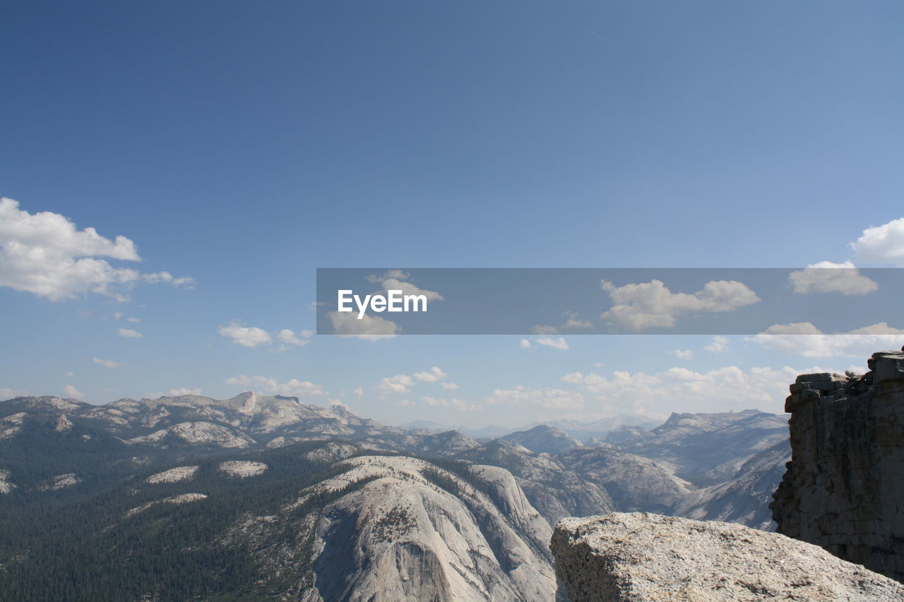 Beautiful landscape from a mountaintop