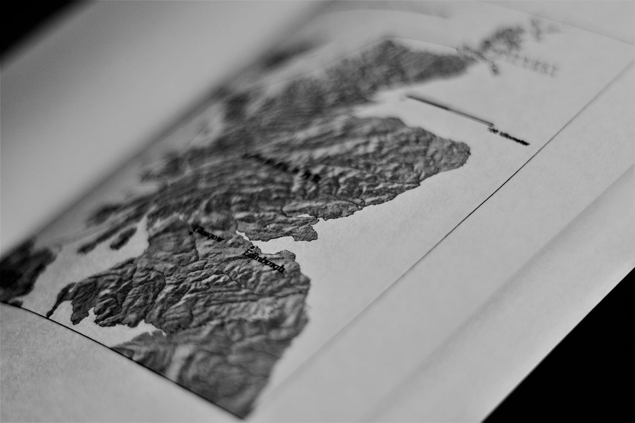 indoors, close-up, map, selective focus, no people, paper, puzzle, learning, day