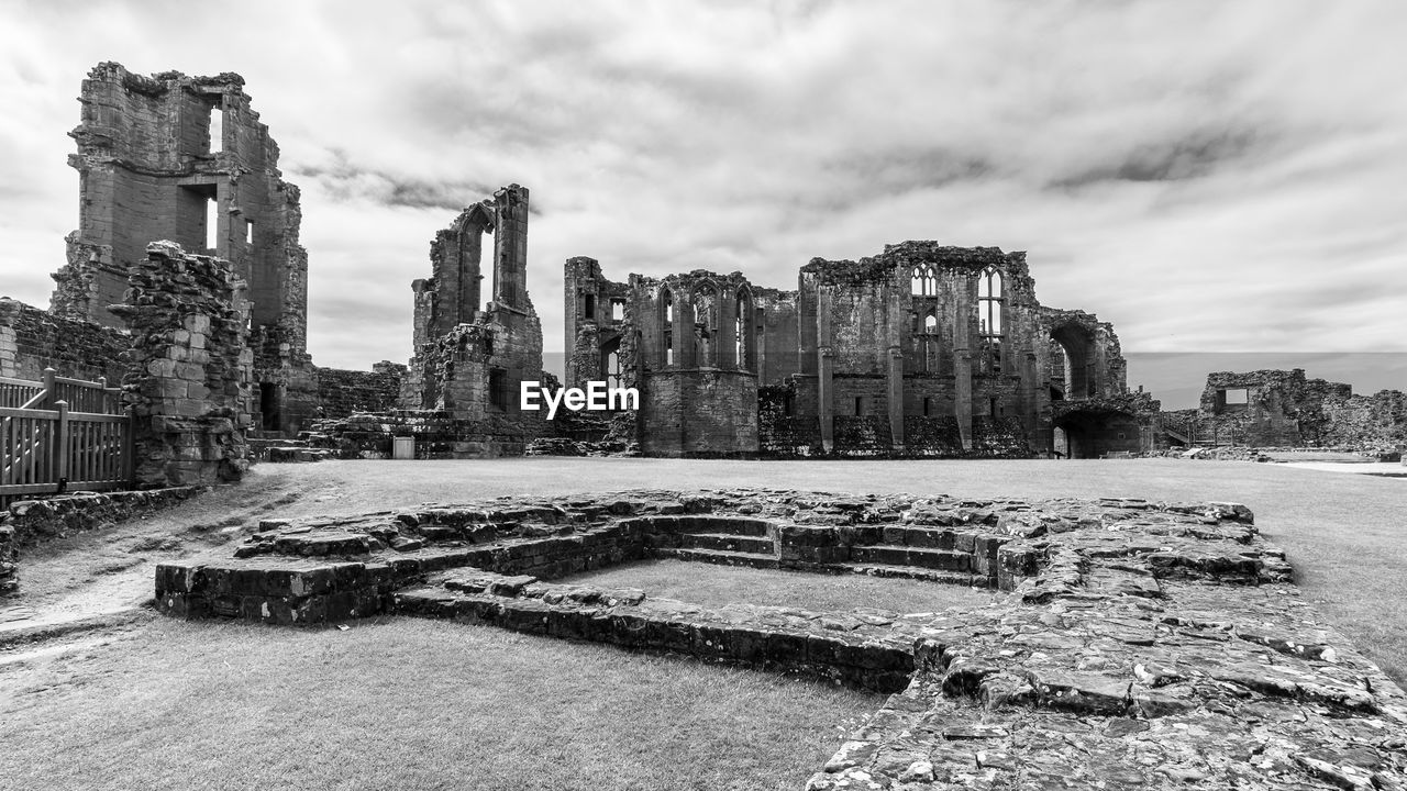Old ruin kenilworth castle against cloudy sky