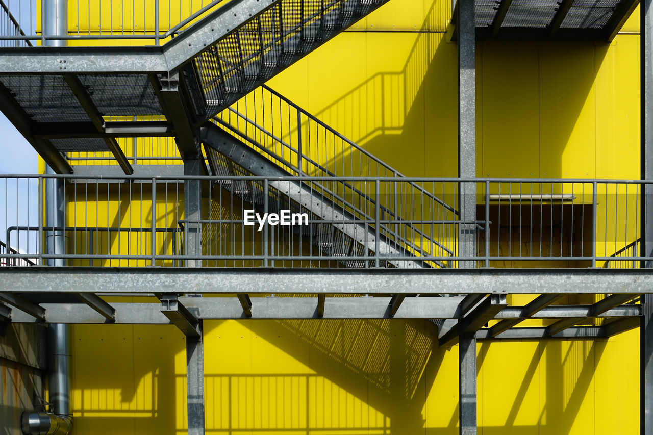 Fire Escape On Yellow Building