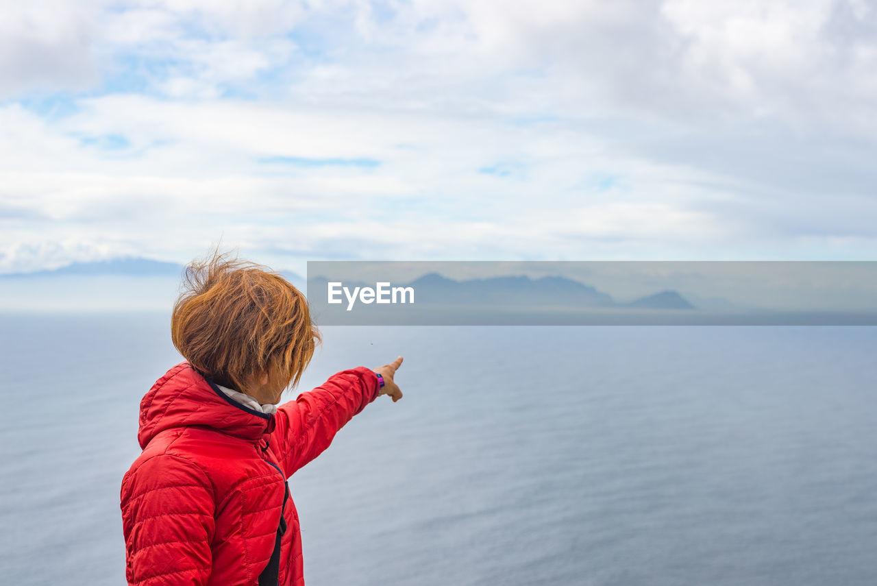 Woman looking at horizon