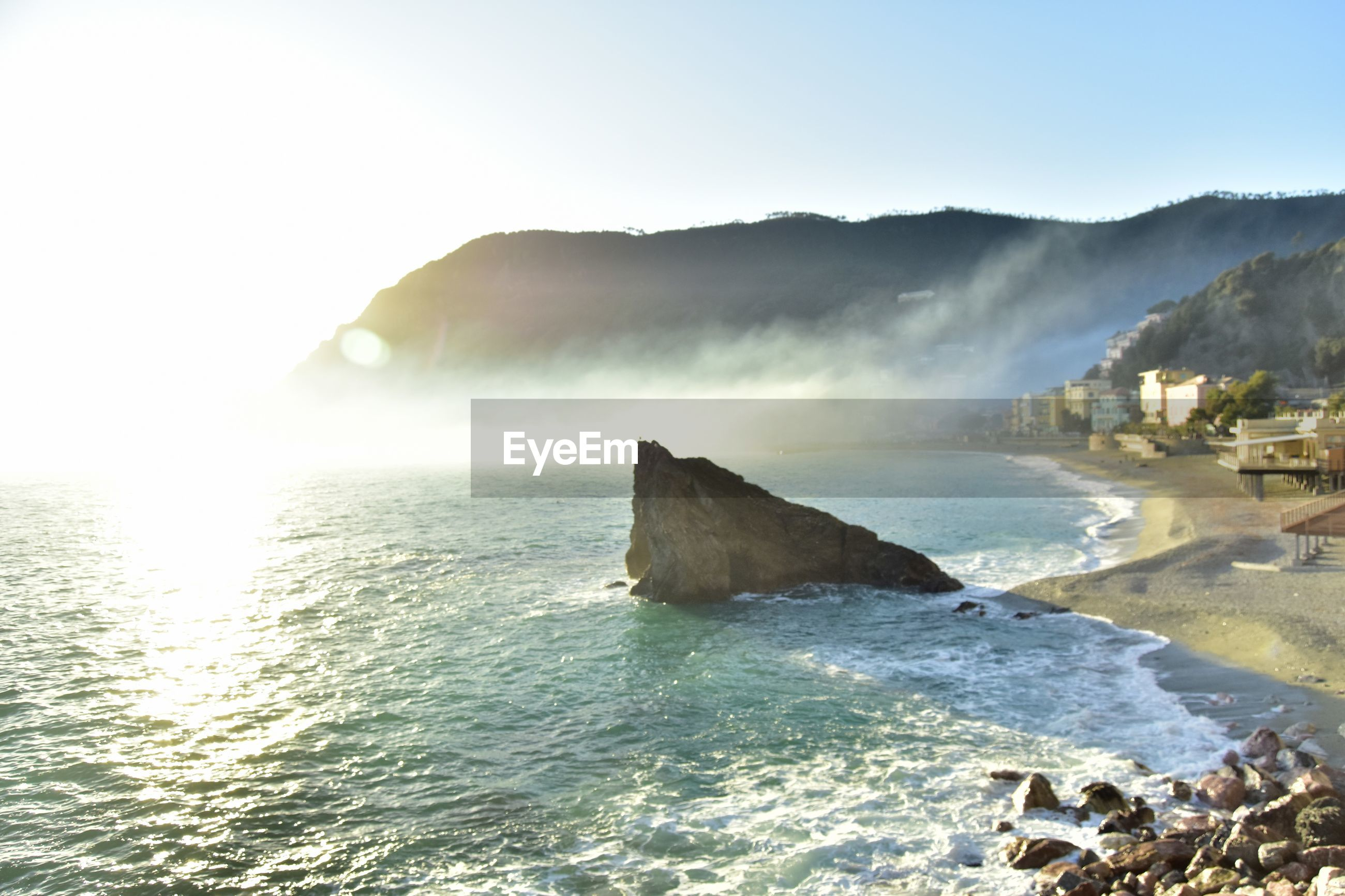 SCENIC VIEW OF SEA AND ROCKS