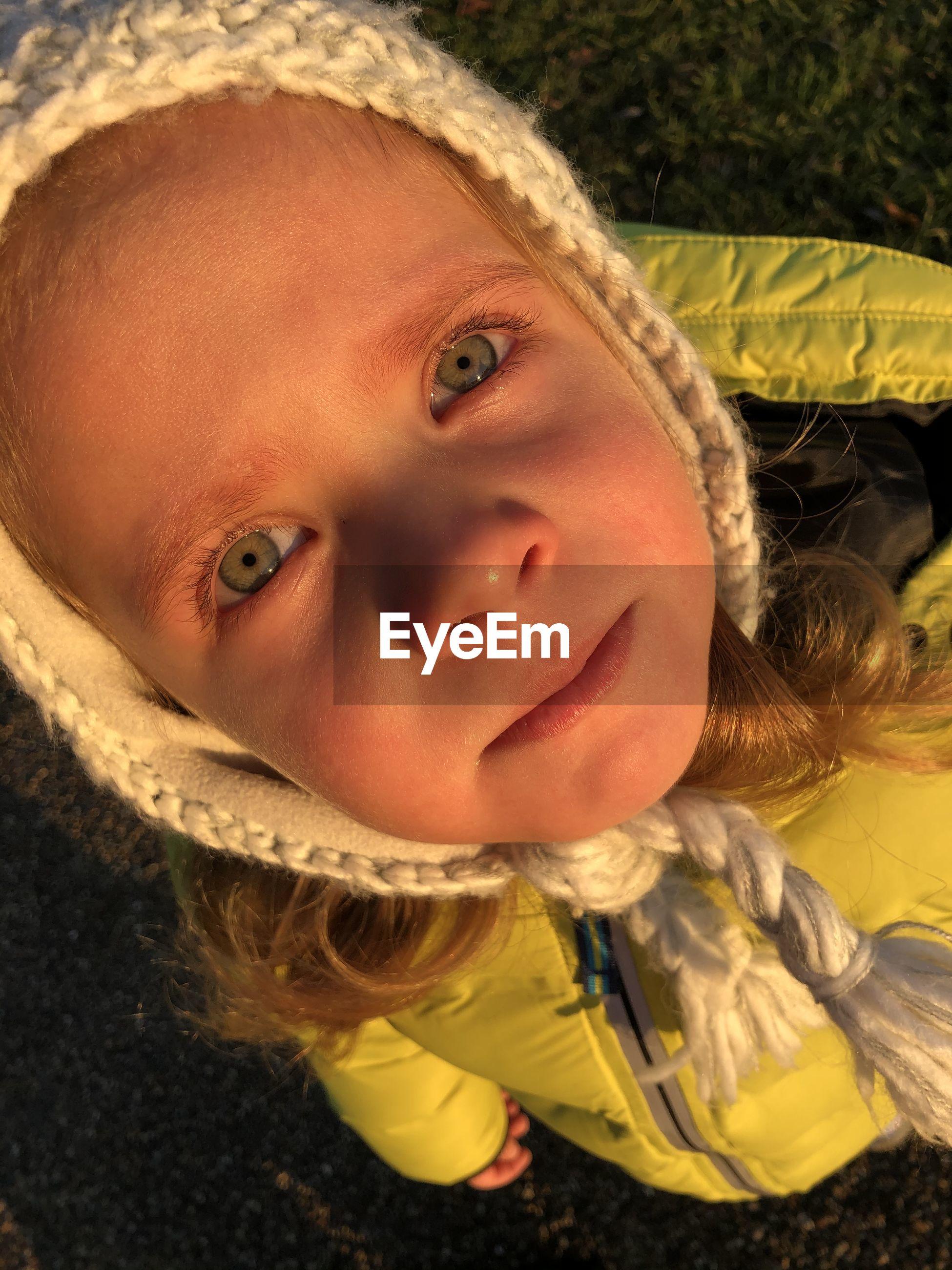Close-up portrait of cute girl