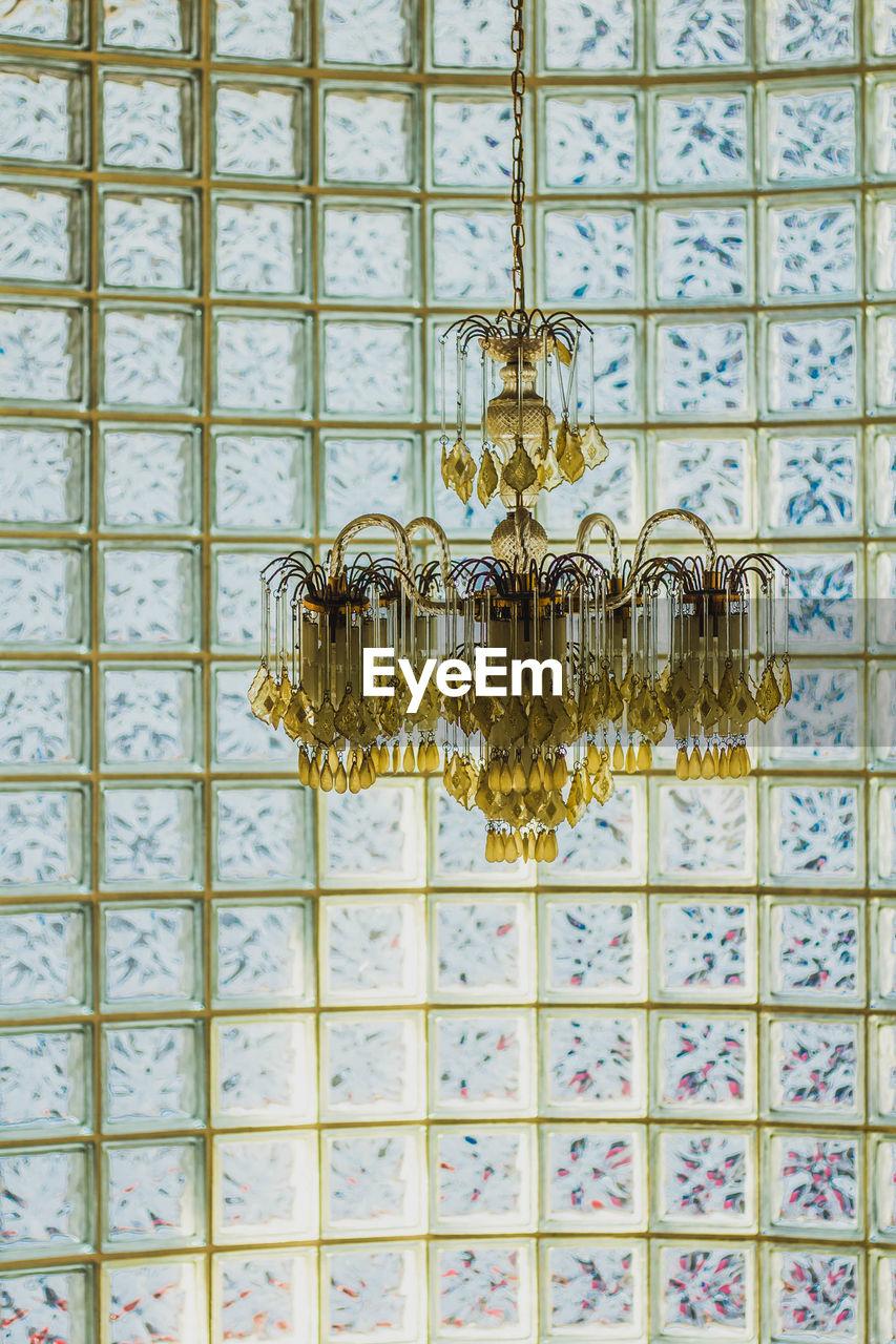 Vintage chandelier indoors