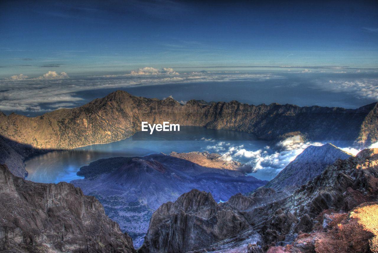 High Angle View Of Mount Rinjani