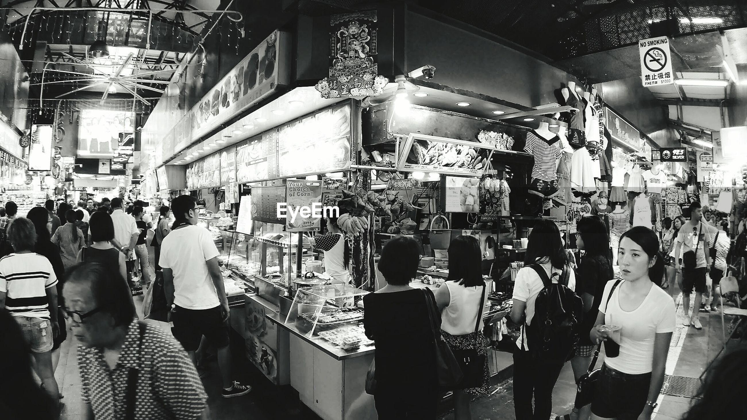People in market at bugis street