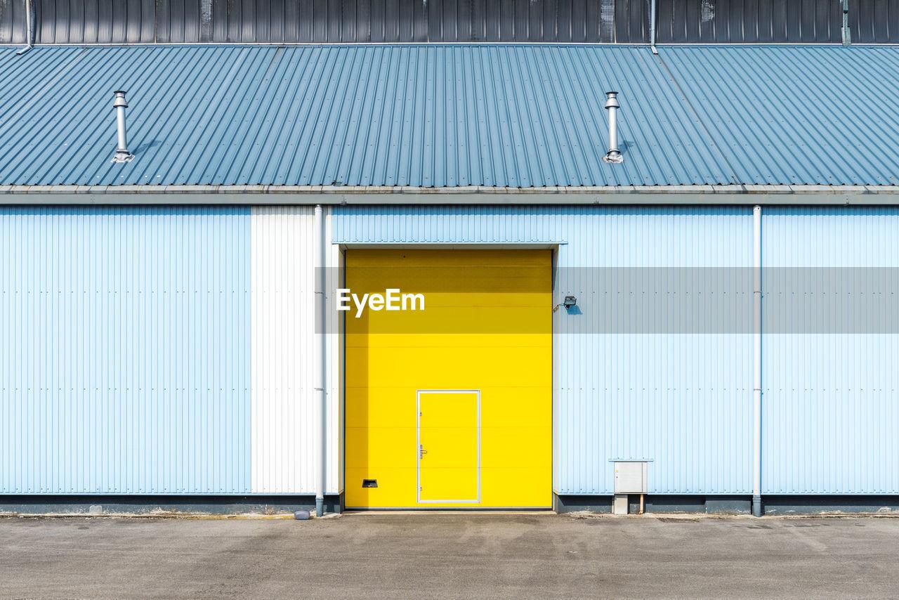 Exterior Of Yellow Door