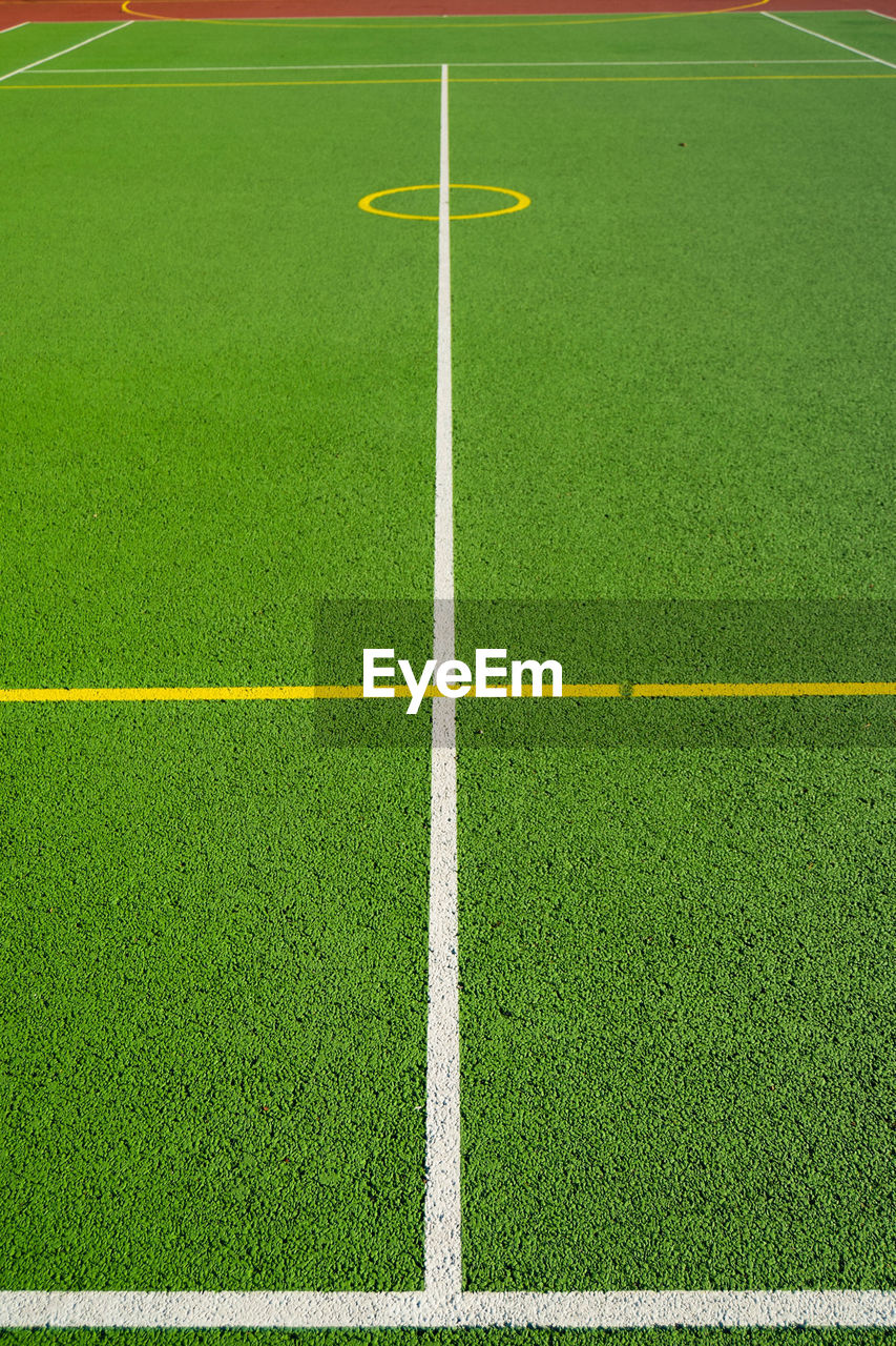 green color, sport, grass, playing field, soccer field, no people, day, outdoors, team sport
