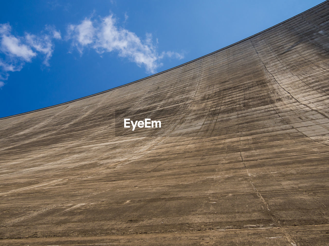 Low angle view of concrete dam wall at katse dam, lesotho, africa
