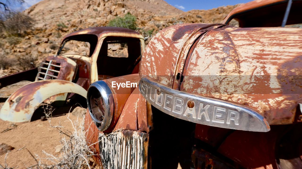damaged, abandoned, obsolete, outdoors, rusty, day, no people, transportation, bad condition, scrap metal, close-up