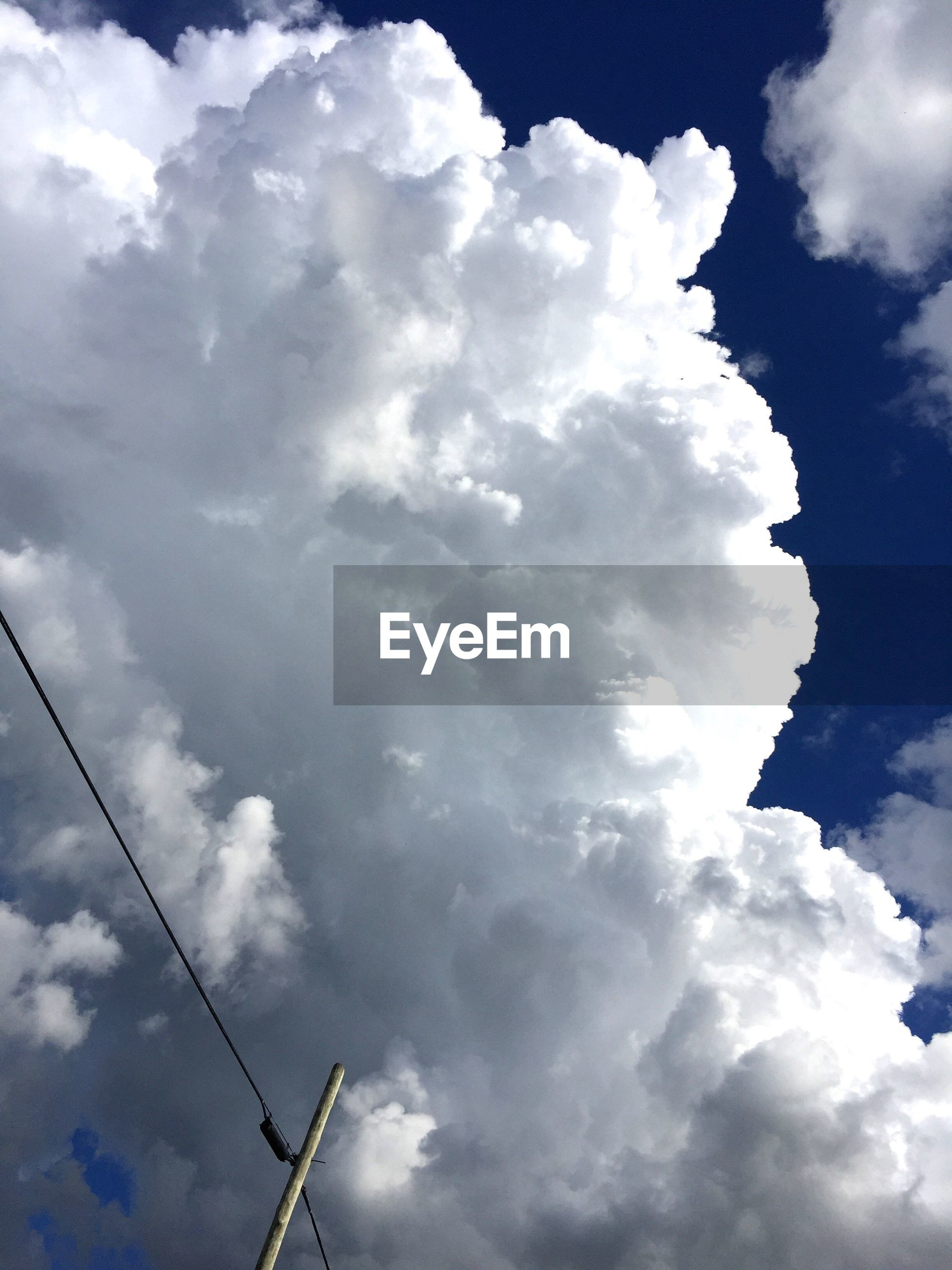 cloud - sky, sky, low angle view, cloudscape, nature, power supply, no people, outdoors, day, beauty in nature, scenics